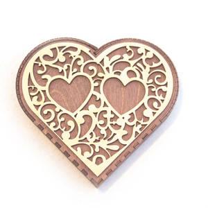 Подставка для колец Сердце