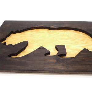 Медведь панно картина из дерева