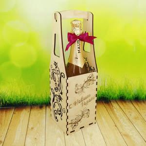 Новогодняя упаковка для шампанского