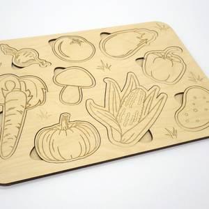 Вкладыши-раскраски Овощи